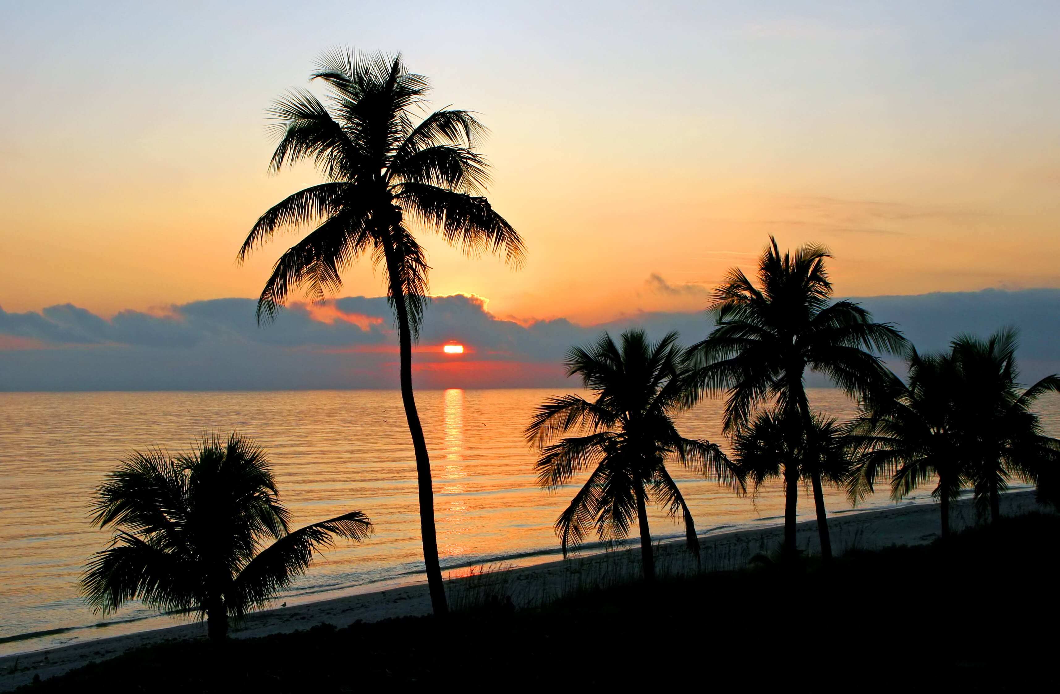 sunset at sanibel island florida